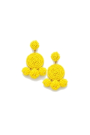 Gemma Collection Yellow Eliano Earrings - Front cropped