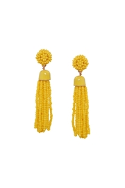 Gemma Collection Yellow Tassel Earrings - Product Mini Image