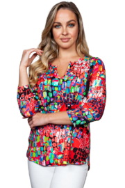 Sno Skins Gems Print Top - Front cropped