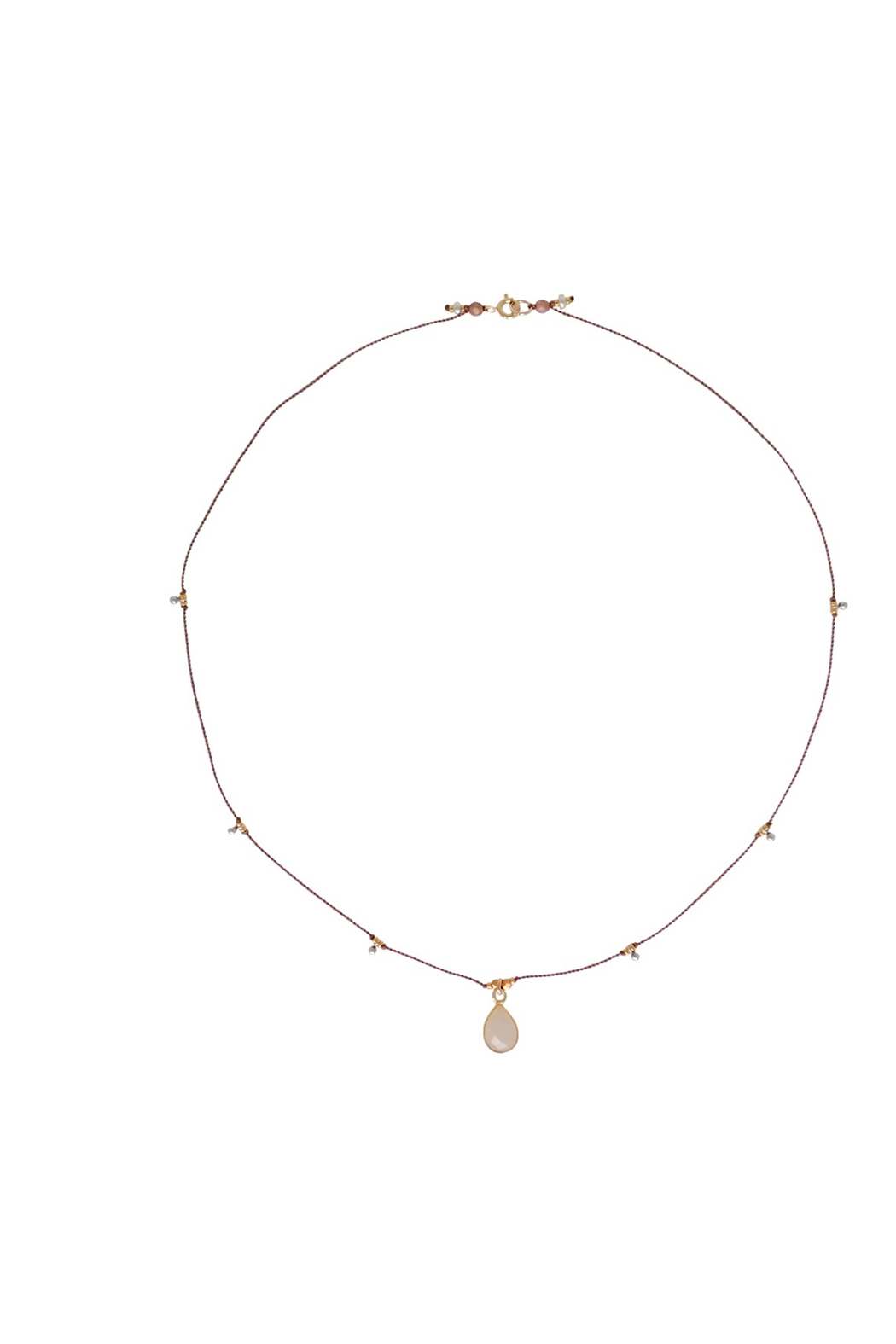 Bronwen Gemstone Necklace Moonstone - Front Full Image