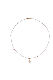 Bronwen Gemstone Necklace Moonstone - Front full body