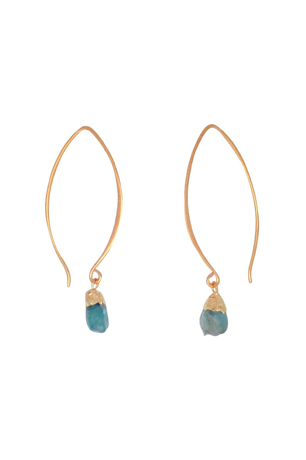 Bronwen Gemstone Nugget Earrings Long - Main Image