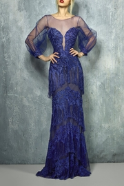 Gemy Maalouf Fringe Evening Gown - Product Mini Image