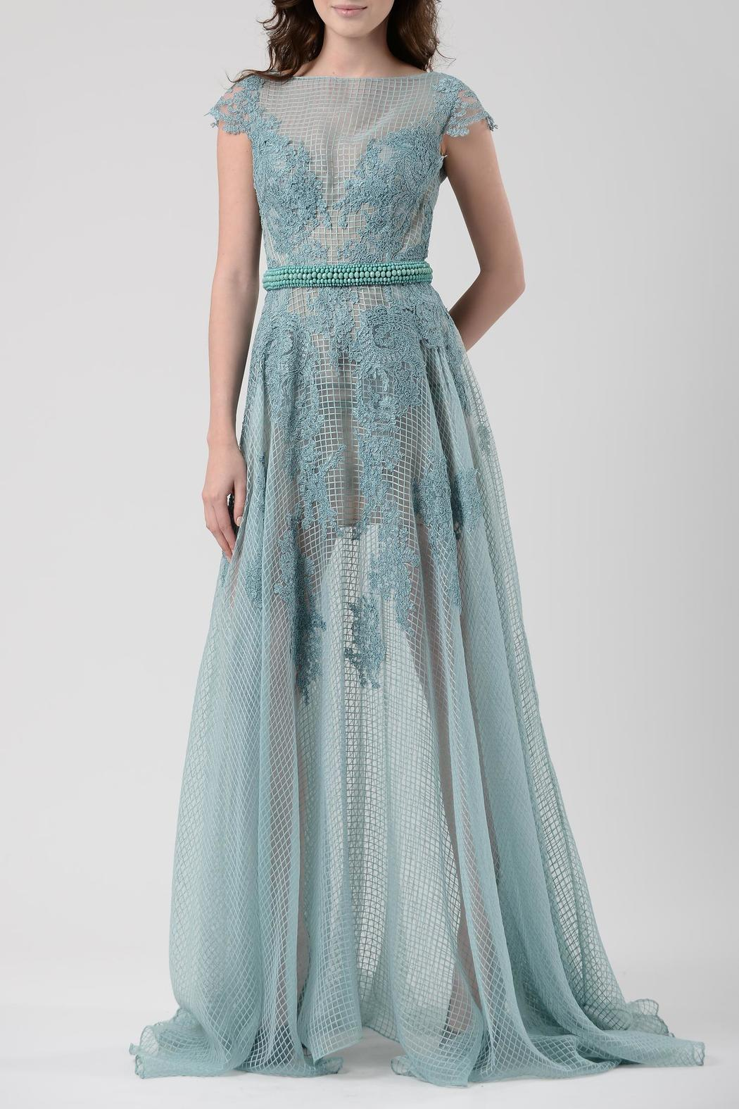 Gemy Maalouf Sheer Evening Gown from New Jersey by District 5 ...