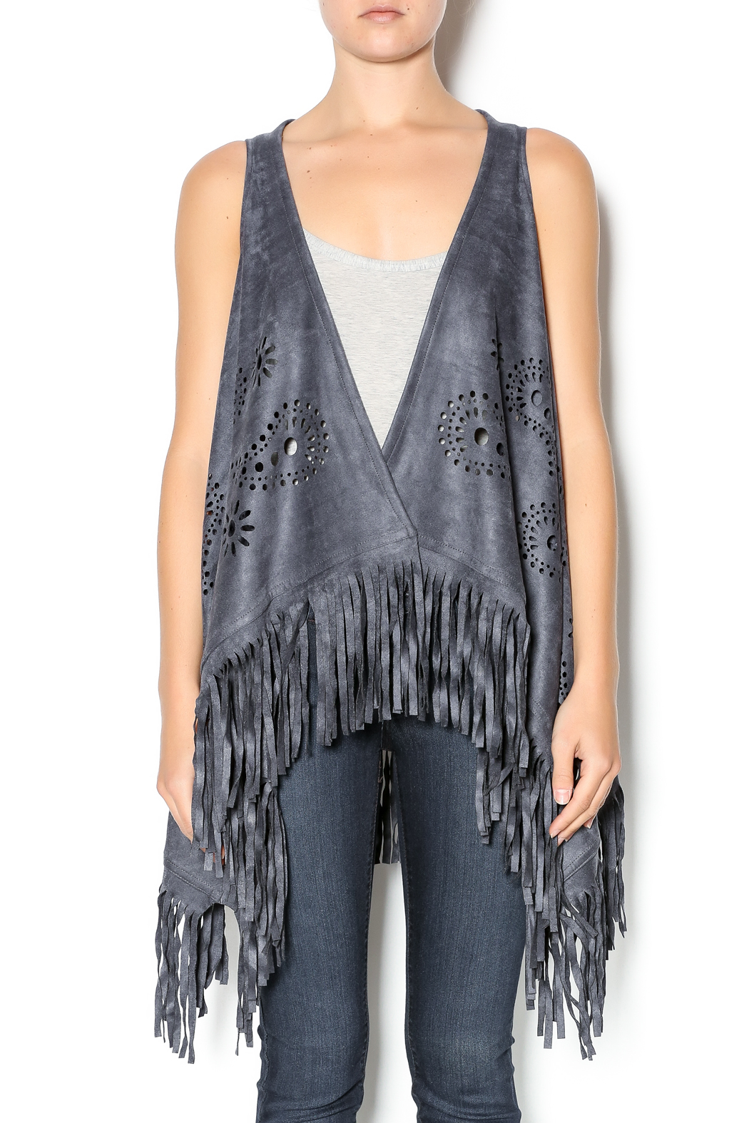 71b5b20f832b3 Gena Accessories Boho Fringe Vest from Wyckoff by Bedford Basket ...