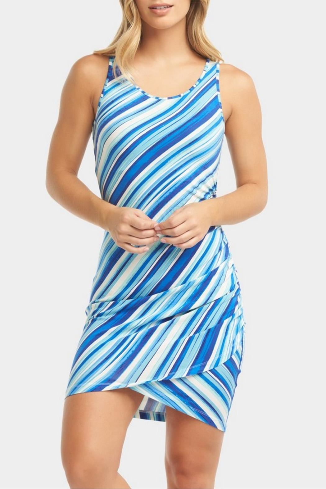 Tart Collections Genelise Striped Dress - Front Full Image