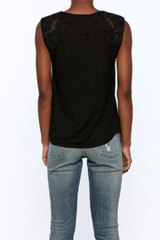 Generation Love  Black Butterfly Tank Top - Back cropped
