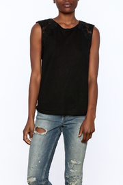 Generation Love  Black Butterfly Tank Top - Front cropped
