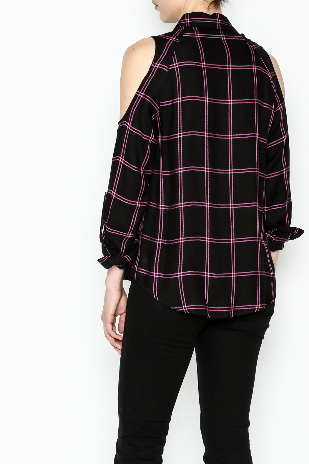 Generation Love  Maisie Plaid Top - Back Cropped Image