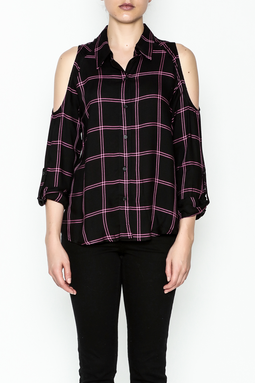 Generation Love  Maisie Plaid Top - Front Full Image