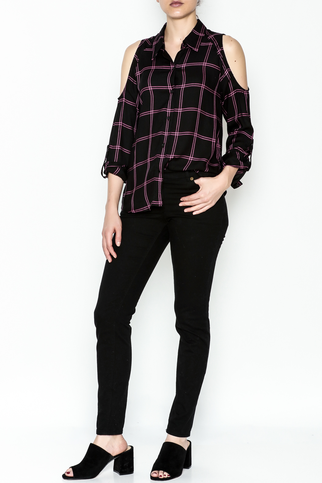 Generation Love  Maisie Plaid Top - Side Cropped Image