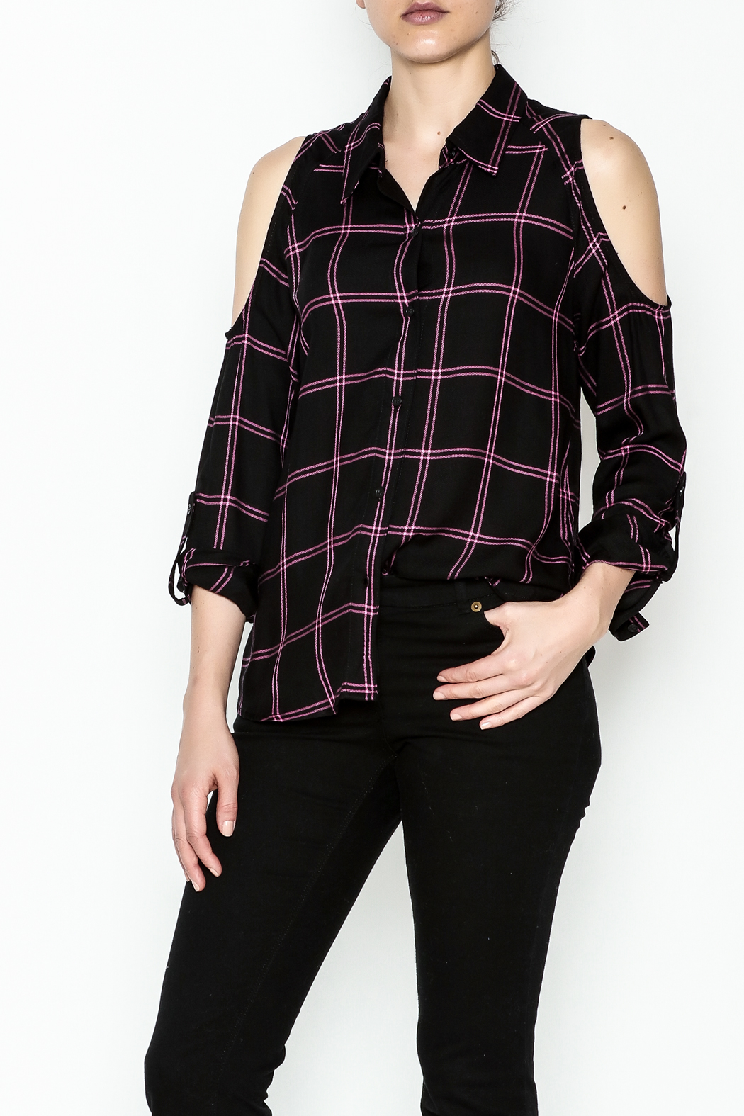 Generation Love  Maisie Plaid Top - Main Image