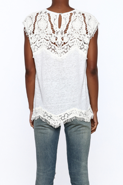 Generation Love  White Scalloped Lace Top - Alternate List Image