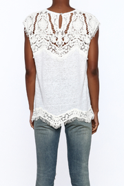 Generation Love  White Scalloped Lace Top - Back cropped