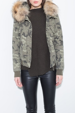 Generation Love  Camo Fur Bomber - Product List Image