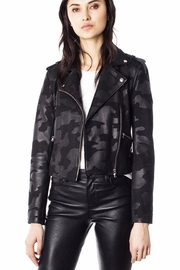 Generation Love  Camo Moto-Leather Jacket - Front cropped