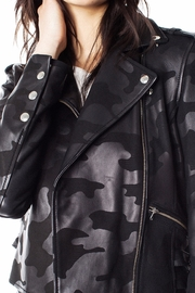 Generation Love  Camo Moto-Leather Jacket - Side cropped