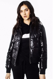 Generation Love  Drexler Sequined-Sleeve Puffer - Front cropped