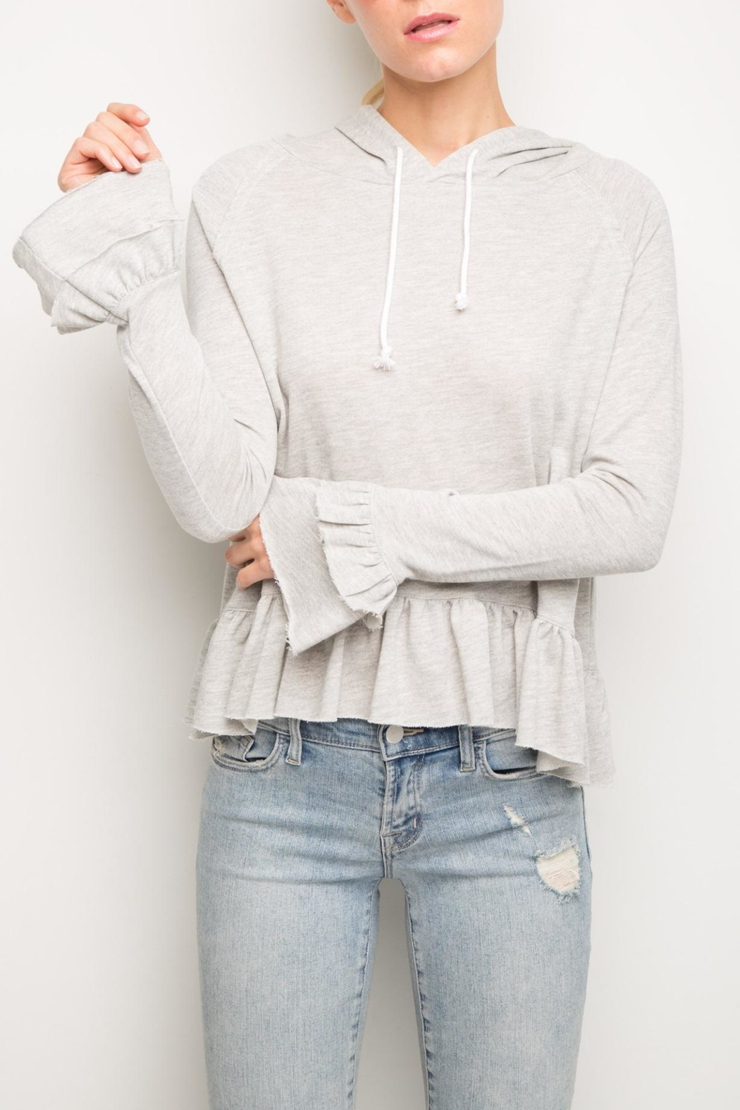 Generation Love  Easton Ruffle Hoodie - Main Image
