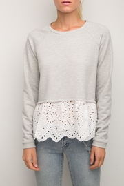 Generation Love  Elena Eyelet-Lace Sweatshirt - Product Mini Image