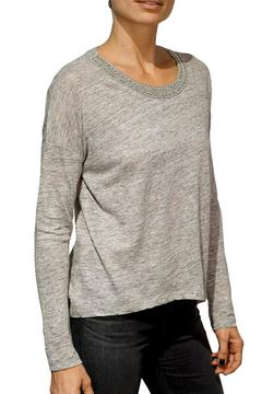 Generation Love  Emballished Linen Top - Product List Image