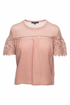 Generation Love  Fran Gauze Lace Top - Product List Image