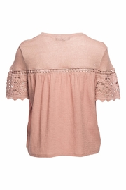 Generation Love  Fran Gauze Lace Top - Front full body