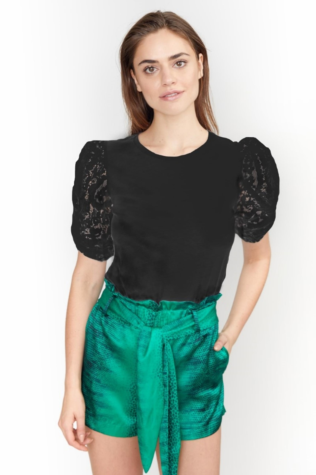Generation Love  Hillary Puffed Sleeve Top - Front Cropped Image