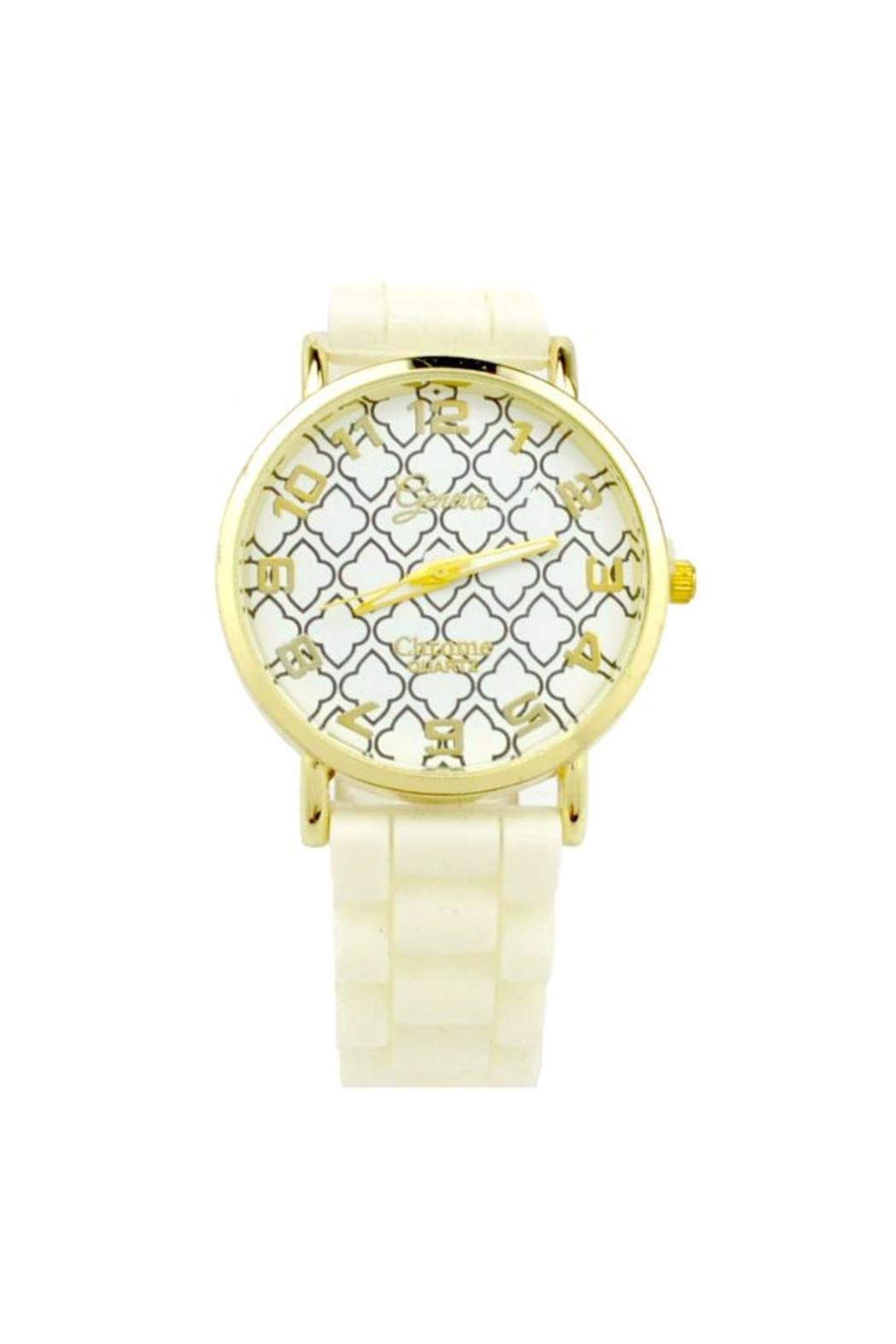 Geneva Moroccan Quatrefoil Watch - Front Cropped Image