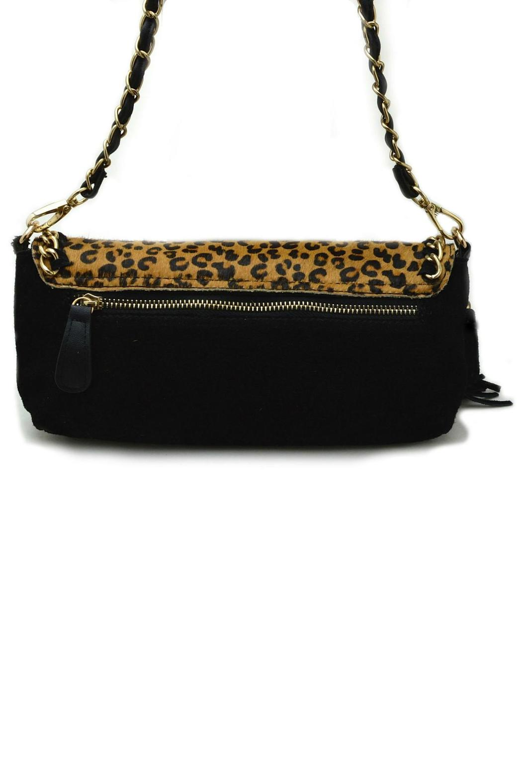 Genni Leopard Chain Handbag - Side Cropped Image