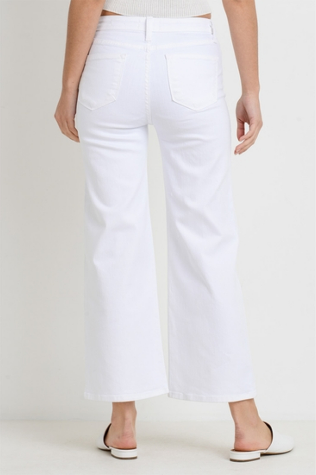 Letters to Juliet Genoa Button Wide Leg Jeans - Side Cropped Image