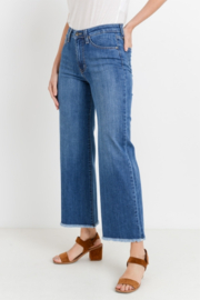 L.T.J Genoa Frayed Wide Leg Jeans - Front full body