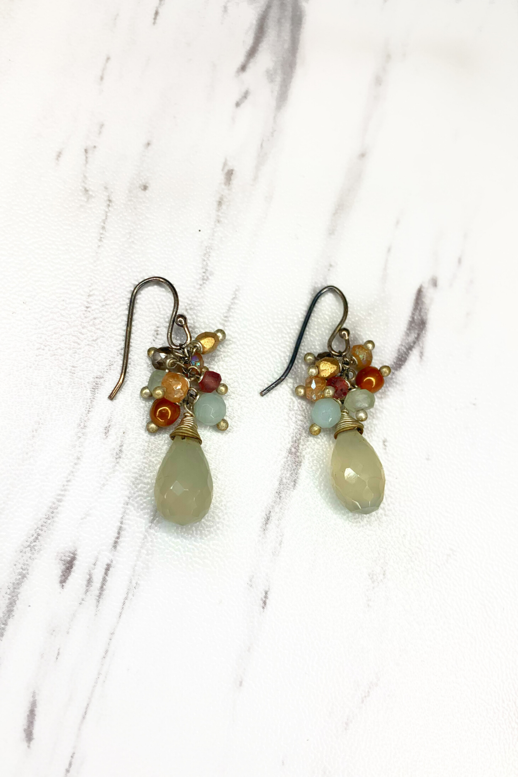 Anne Vaughn Designs Gentle Breeze gemstone cluster earrings - Main Image