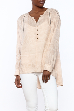 Shoptiques Product: Beige Long Sleeve Blouse
