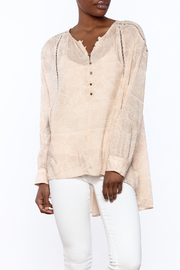 Gentle Fawn Beige Long Sleeve Blouse - Product Mini Image