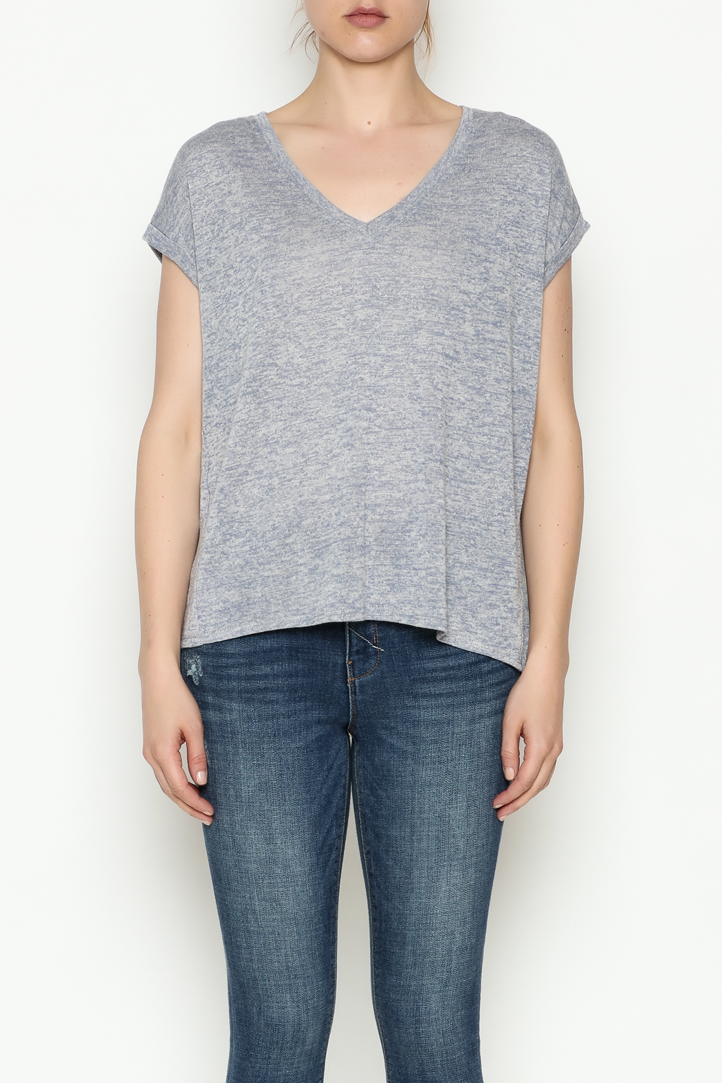 Gentle Fawn Boyfriend V Neck Tee - Front Full Image