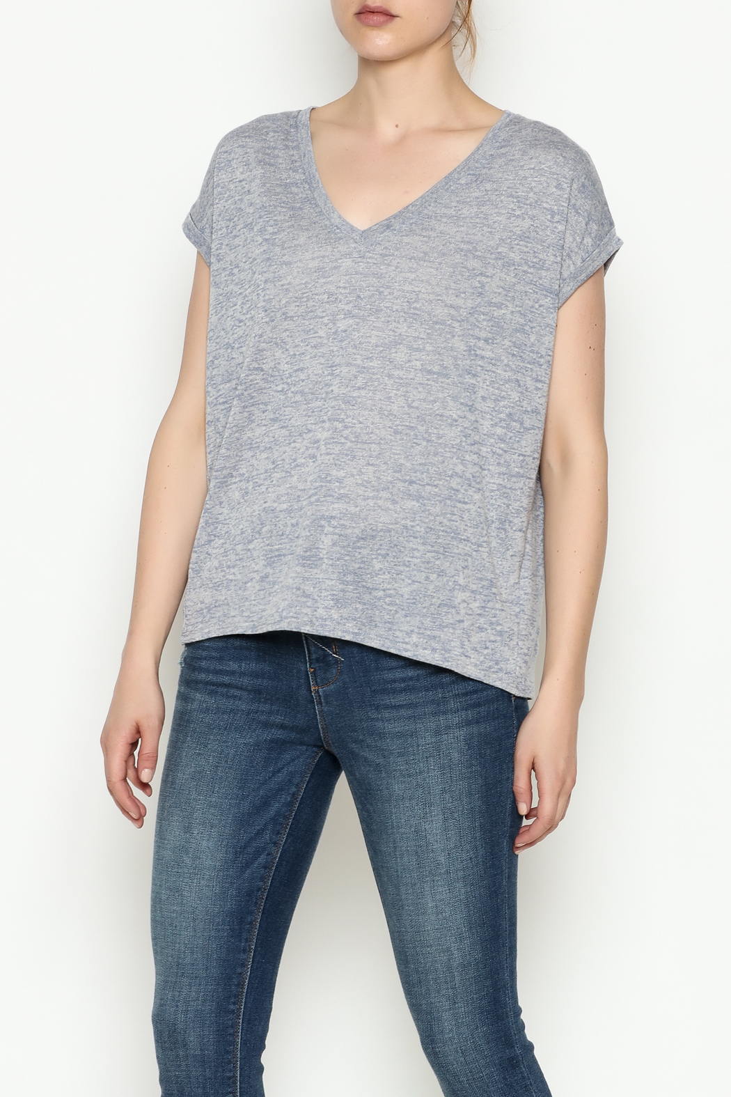 Gentle Fawn Boyfriend V Neck Tee - Front Cropped Image