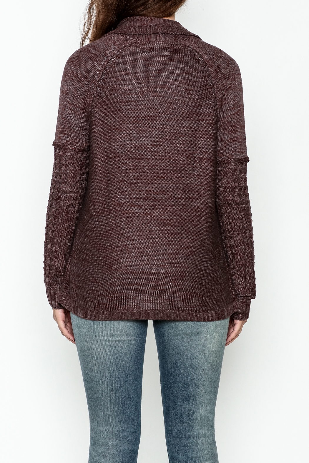 Gentle Fawn Classic Open Cardigan - Back Cropped Image