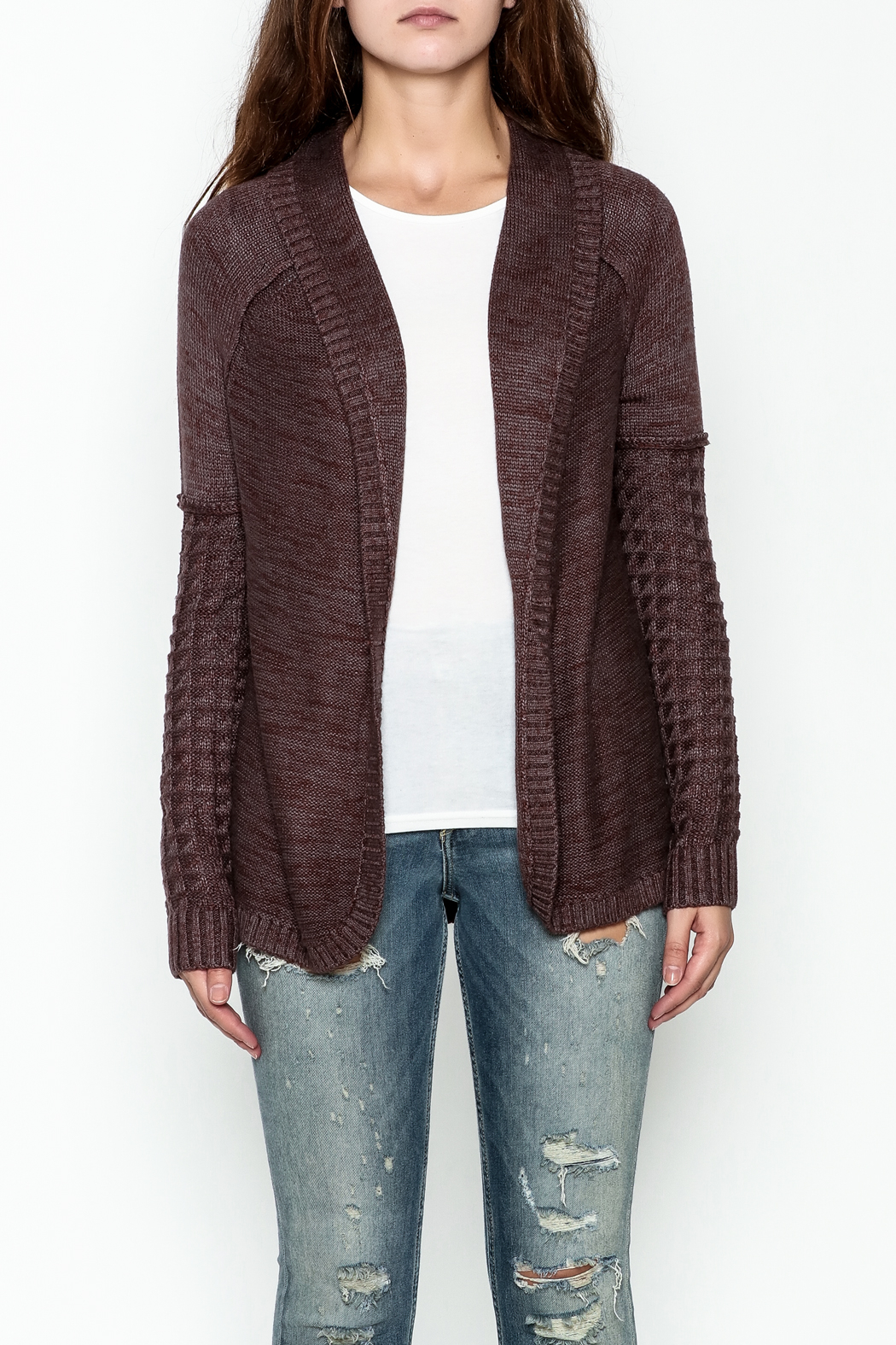 Gentle Fawn Classic Open Cardigan - Front Full Image