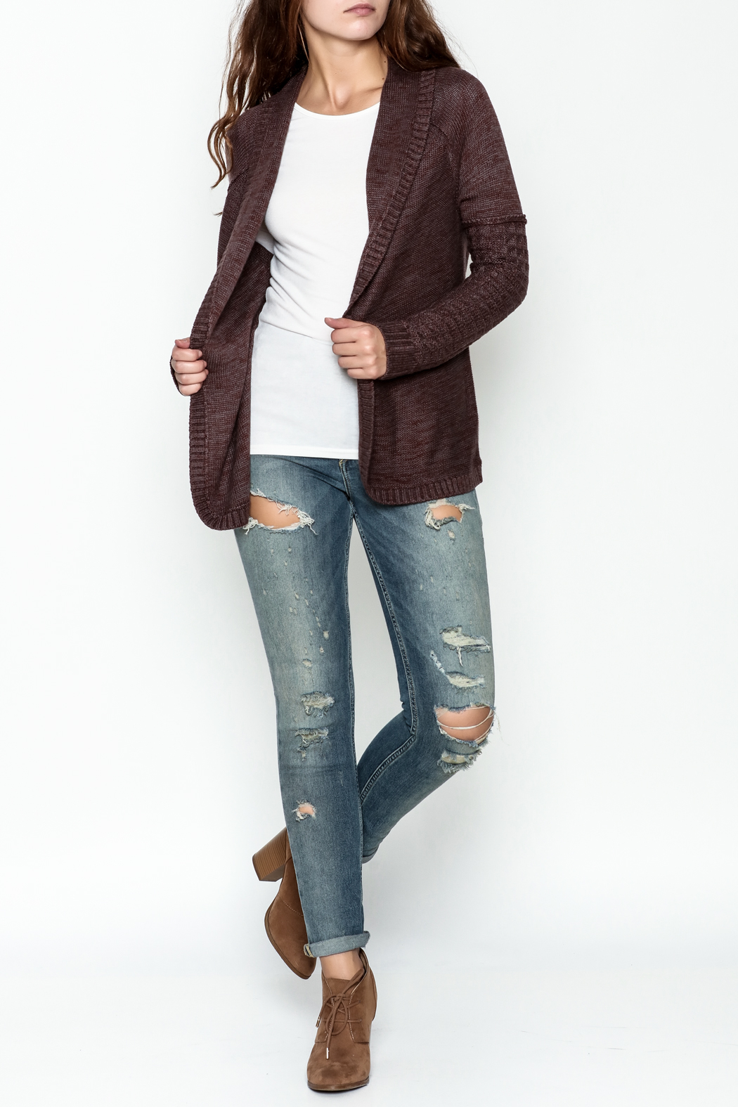 Gentle Fawn Classic Open Cardigan - Side Cropped Image