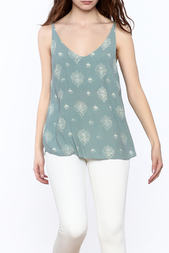 Shoptiques Product: Denim Blue Paisley Top