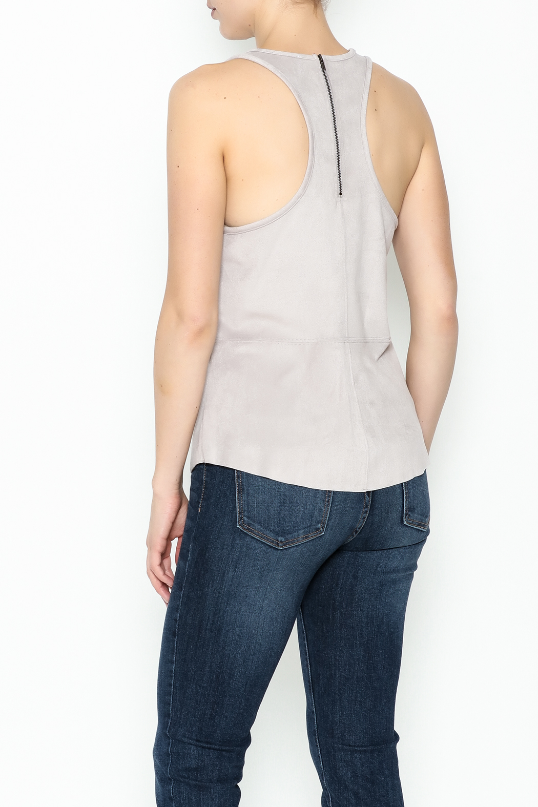 Gentle Fawn Faux Suede Top - Back Cropped Image