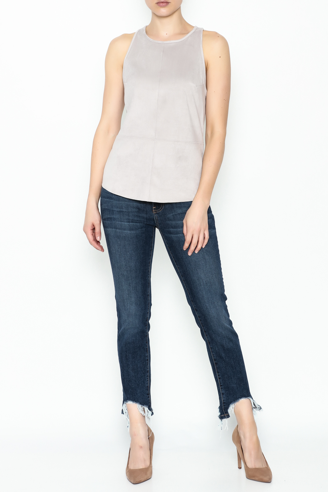 Gentle Fawn Faux Suede Top - Side Cropped Image