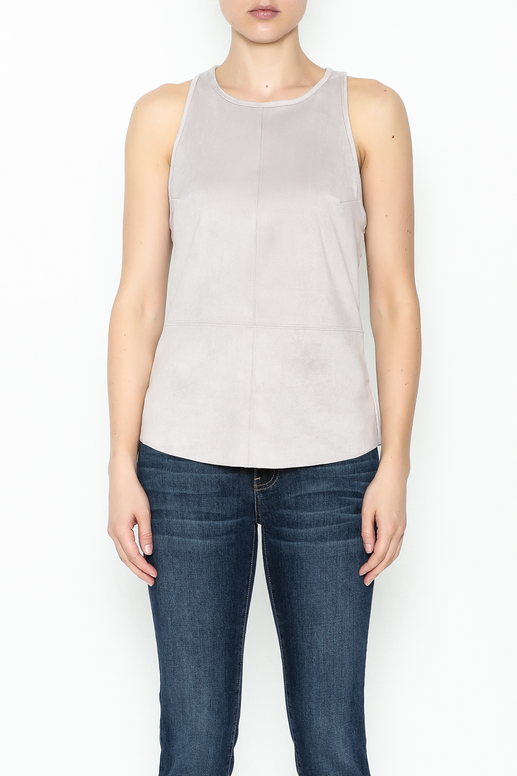 Gentle Fawn Faux Suede Top - Front Full Image