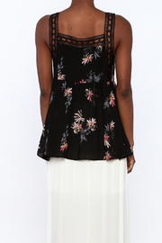 Gentle Fawn Black Floral Sleeveless Blouse - Back cropped