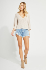 Gentle Fawn Nino Sweater Pullover - Light Oatmeal - Product Mini Image