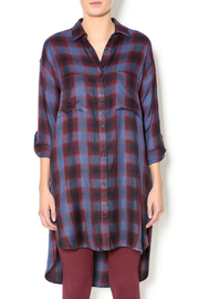 Gentle Fawn Plaid Shirt Dress - Front cropped