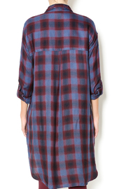 Gentle Fawn Plaid Shirt Dress - Back cropped
