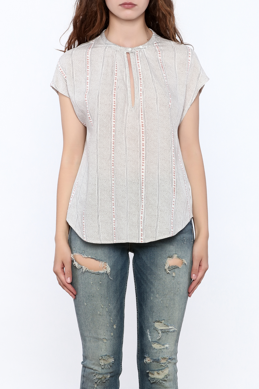 Gentle Fawn Grey Rowan Top - Side Cropped Image