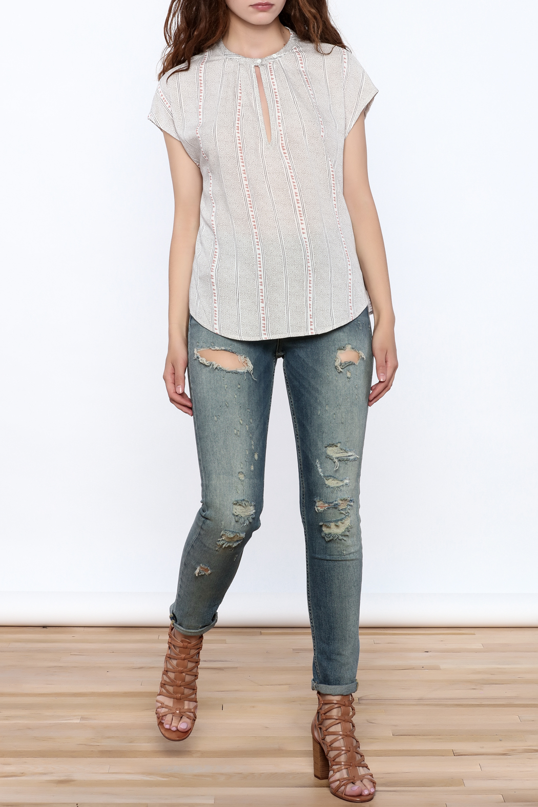 Gentle Fawn Grey Rowan Top - Front Full Image